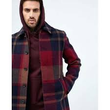 red trench coat mens zara design in check jackets