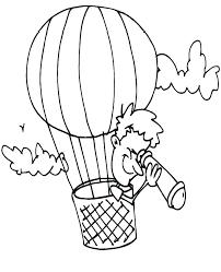 Coloring Balloons Balloon Coloring Page Hot Air Balloon