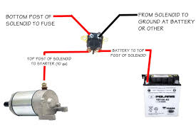 starter solenoid wiring diagram atv starter solenoid wiring how to wire a starter solenoid on a lawn tractor at Ford Starter Solenoid Wiring Diagram