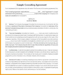 Sample Consulting Contract Template Threeroses Us
