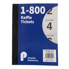 Prize Draw Tickets Notebooks Raffle Tombola Prize Draw Cloakroom Ticket Book