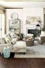 Elegant French Country Living Room. I love the plaque above the mantle! I  have