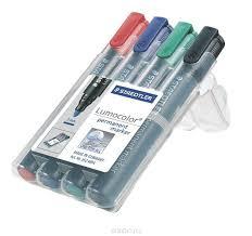 <b>Staedtler</b> Набор перманентных <b>маркеров Lumocolor</b> 4 цвета ...