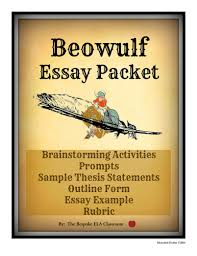 beowulf essay packet by bespokeela teaching resources tes