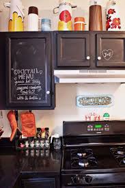 Kitchen, Paint Kitchen Cabinets With Chalkboard Paint On Kitchen Island  Designs For Small Kitchens: Colorful Contemporary Kitchen Cabinets 2014