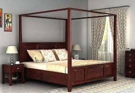 Queen Size Poster Bed Poster Bed Without Storage Queen Size Mahogany ...