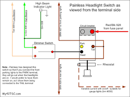 wiring question for american autowire headlight switch ffcars the one circuit provides power for the headlights parking lights and a dimmer for your gauge lights