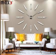 2016 new home decor living room quartz modern wall clock fashion diy art single face 20