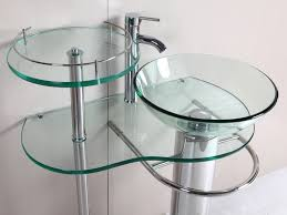 Glass Sink Bathroom Bathroom Bowl Vessel Small Bathroom Sink Made Of Glass Combined