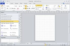 drawing e r diagrams uml notation using microsoft visio new blank visio 2010 diagram