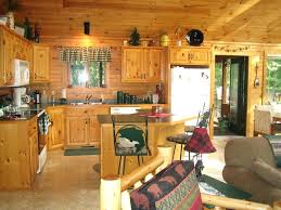 rustic cabin kitchens. Cabin Kitchen Island Small Rustic Design With L Shaped Cabinet And . Kitchens