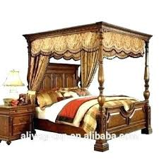 Surprising Wood Canopy Bed Full Size Frame White Queen Beds Home ...