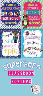 Superhero Classroom Motivational Quote Posters Superhero Classroom