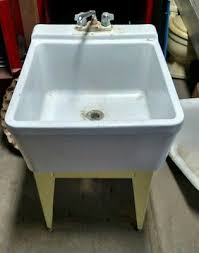 porcelain laundry sink. Brilliant Sink Reclaimed Vintage CRANE Porcelain Laundry Sink WWashboard U0026 Stand  LOWERED Inside