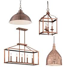 copper pendant lighting and chandeliers