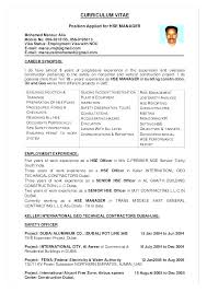 Safety Manager Resume Medical Health Officer Resume Safety Officer