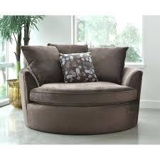 moda brown microfiber round swivel chair best ideas on couch big comfort zone