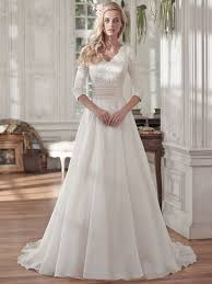 Maggie Sottero Brentleigh V Neck Organza A Line Bridal Dress