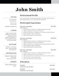 Does Word Have A Resume Template Cool Simple One Page Resume Template Does Word Have Templates A Microsoft