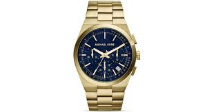 michael kors men s gold tone channing chronograph watch 43mm in michael kors men s gold tone channing chronograph watch 43mm in metallic for men lyst