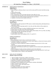 Survey Technician Resume Sample Survey Technician Resume Samples Velvet Jobs 3