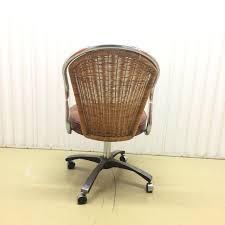 rattan office chair. vintage daystrom chrome u0026 rattan desk chair image 5 office d