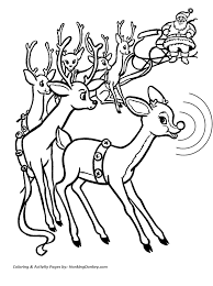 Small Picture reindeer pulling santas sleigh coloring pages online rudolph and