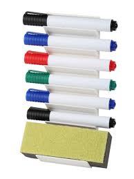 Whiteboard pen and eraser holder