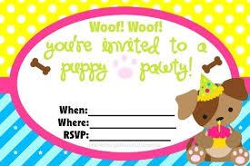 Dog Birthday Invitations Free Printable Puppy Birthday Party