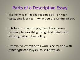example of descriptive essay co example of descriptive essay