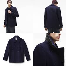 men s oned wool broadcloth pea coat