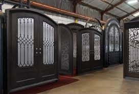 wrought iron front doorsWrought Iron Doors  Single  Double  Glass Entry Iron Doors