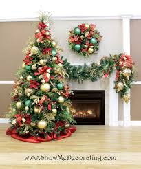 Red And Gold Christmas Tree Decorating Ideas Inspiration On With. Christmas  Tree Decoration Gold Green Ornaments Red