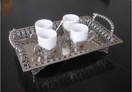 Decorative Metal Serving Trays 6060 vintange rectangle gloss silver plated alloy metal serving 18