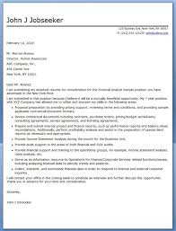 Financial Analyst Cover Letter Samples 67 Images Financial