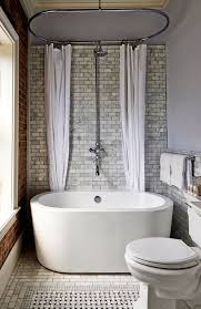 freestanding bathtubs for small spaces. transitional bathroom with side-mount shower curtain rod, freestanding, rain shower, ceramic tile floors freestanding bathtubs for small spaces a