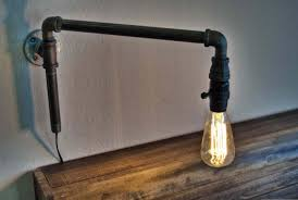 diy pipe lighting. how to make a modern swinging wall light from iron pipe fittings youtube diy lighting t