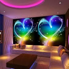 Us 88 53 Offcustom 3d Wall Mural Wallpaper Modern Design Personas Love Heart Ktv Bar Living Room Sofa Background Decor Wallpaper For Walls In