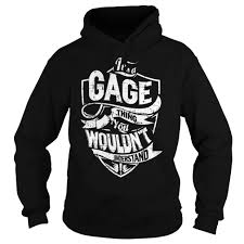 gage name. it is a gage thing - last name, surname t-shirt gage name e