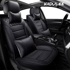 KADULEE <b>pu leather Universal Car</b> Seat covers for Subaru all ...