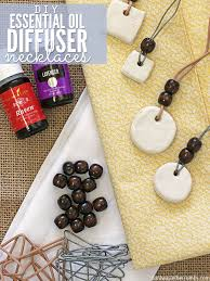 when my son got sick i made this essential oil diffuser necklace out of clay