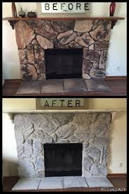 Cheap Fireplace Makeover Ideas Lighten Up A Traditional Fireplace With An Easy To Apply Wash Of