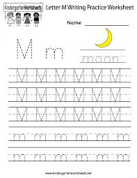 Letter M Worksheets for Preschool Kindergarten Printable