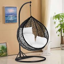 indoor hanging swing chair awesome tinkertonk garden patio rattan swing chair wicker hanging egg chair