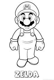 Zelda Mario Naam Kleurplaat
