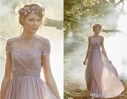 dusty rose pink bridesmaid dresses pleated chiffon short sleeves