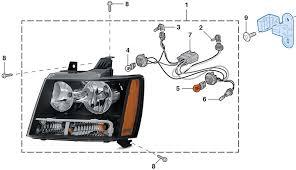 headlight parklight 2007 13 chevy tahoe suburban lmc truck
