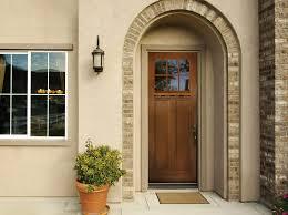 craftsman fir fiberglass single door with pdl and mantel