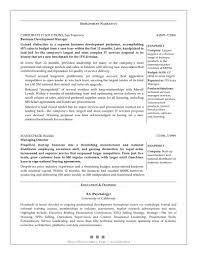 Resume Sample For Business Development Executive Business Development Resume Samples Sample For shalomhouseus 1