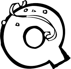 Small Picture Letter Q Coloring Page 4802
